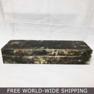 Real Bone Inlay Designer round Luxury Jewellery Box Gift storage YELLOW E