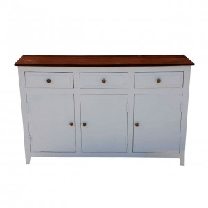 French Blanc Wooden Chest Of Drawers