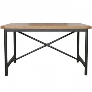 Industrial Solid Wood Hall Dining Table