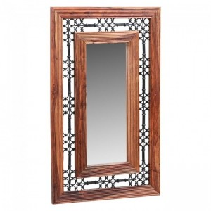 Takat Metal Jali Large Wall Mirror Natural 115 x 70 cm