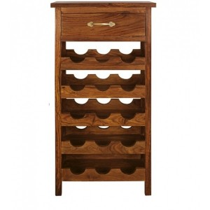 Classic solid wood 15 bottle Wine Rack Brown