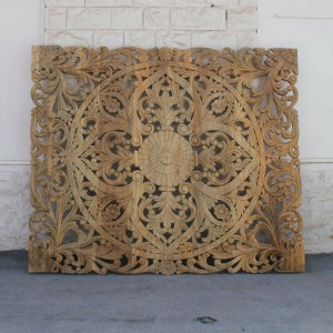 Dynasty Carved Panel Bedhead NATURAL