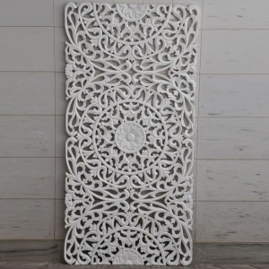 Dynasty Carved Panel Bedhead White 1.8m