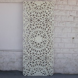 Dynasty Carved Panel Bedhead Whitewash