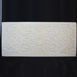 Dynasty Carved Panel Bedhead White
