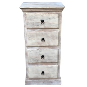 MADE TO ORDER  Indian Mango Classic Wooden Chest of Drawers Tallboy White