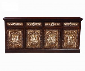 MADE TO ORDER Maharaja Indian Wooden Large Sideboard With Doors & Drawers
