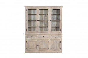 MADE TO ORDER Indian Mango Classic Wooden Large Bookshelf Bookcase White 180x40x220 cm