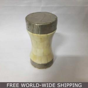 Real Bone Inlay Designer Pillar Vintage Candle Stand Holder WHITE F