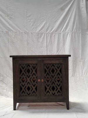 Indian Hand Carved Solid Wooden Beautiful Buffet Cabinet Sideboard 81x46x88cm