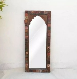 Indian Reclaimed Mehrab Wood Mirror frame