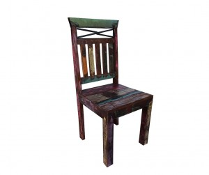 Nirvana Indian Reclaimed Wood Seating Chair Brown 45 x 45 x 100 cm