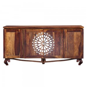 French Arched Mirror Doors Sideboard