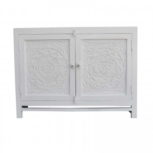 Floral Carved Solid wood Sideboard