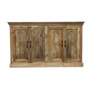 Floral Carved Solid wooden Sideboard