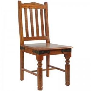 Takat Metal Jali Natural Solid Wood Fanti Chairs x2