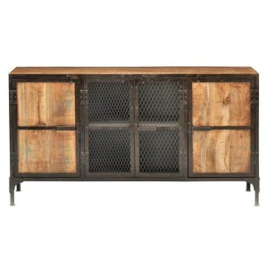 Miller Industrial Reclaimed Wood Buffet Sideboard Or Home Office Cabinet