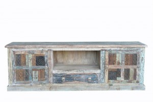 Rainbow Reclaimed Antique Vintage TV Cabinet 200X44X66 CM