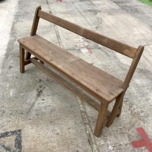 Boston Indian Teak Wood School Bench With 3 Seater