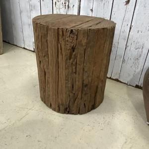 Antique Indian Wooden Round Gos-Keema Stool