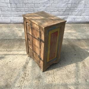 Rustic Reclaimed Wood Bedside Table 43cm