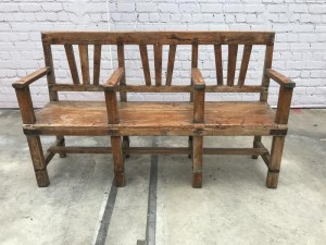 Indian Antique Vintage Indian Cinema Bench With 3 Seater