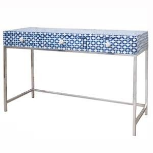 MAAYA Bone Inlay wooden 3 Drawer Hall Table Console