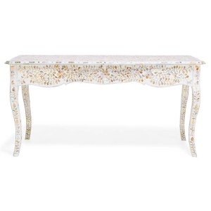 MAAYA Bone Inlay Solidwood Console Hall table Floral pattern