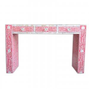 MAAYA Bone Inlay wooden 3 Drawers Hall Table Desk