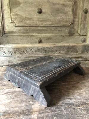 Wooden Antique Bajot Black 22x20x6 cm