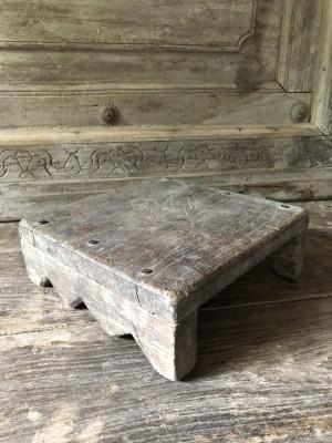 Wooden Antique Bajot Natural 16x16x6 cm