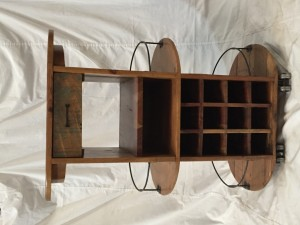 MADE TO ORDER Wood Home Bar Cabinet Wine Rack Bottle Storage OVAL Counter