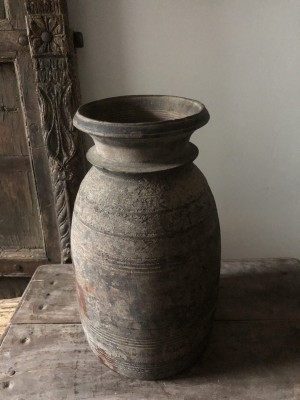 Nepalese Solid Wood Oil Pot Storage Natural Sizer L