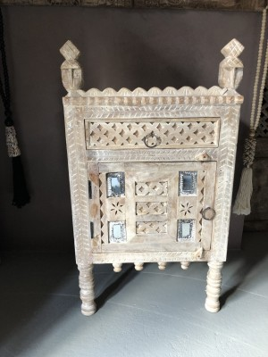 Damchiya Bridal Cabinet Right Open Bleached 45x39x82 cm