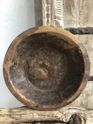 Indian Wooden Parat Bowl Size M 30x30x7 cm