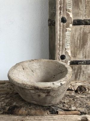 Indian Wooden Mortar Bowl Natural 22x22x11 cm