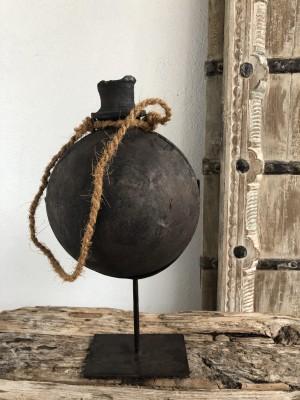 Wooden Surai Pot Rustic Black XL 21x21x43 cm