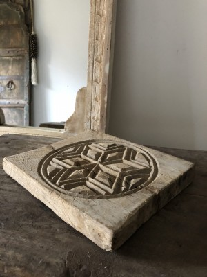 Mandala Of Wood Unique Chapati Plate E