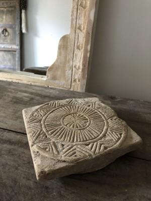Mandala Of Wood Unique Round Chapati Plate C