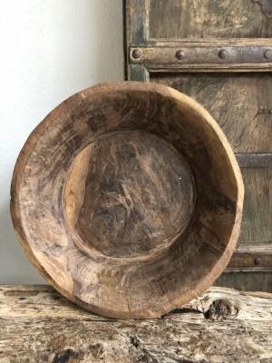 Indian Wooden Parat Bowl Size XL 41x41x11 cm