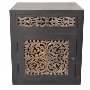 Dynasty carved jali panel side Table A