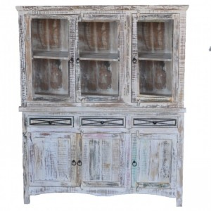 Rustica Reclaimed Wood Large Hutch in two parts