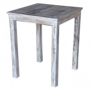 Corso Reclaimed & Mango Wood Square Bar Table High Table White 80x80cm