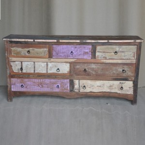 Rustica Reclaimed Chest of 7 Drawers Multicolor