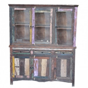 Rustica Reclaimed Library Bookcase Big Multicolor