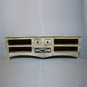RUSTICA Reclaimed White TV unit - Large