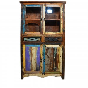RUSTICA Reclaimed Timber Glass Cabinet