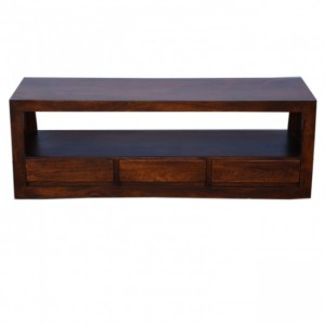 Contemporary Boston 3 drawer TV Unit Brown 145cm