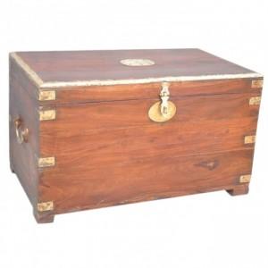 Brass Border Solid Timber Blanket Box