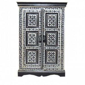 Pandora Bone Inlay Hand Painted Cabinet